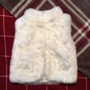 Carters Fluffy White Vest
